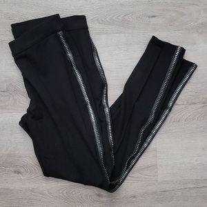 R+J Couture Zipper Stud Ponte Leggings